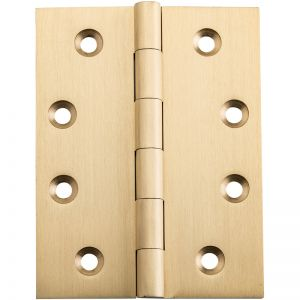 Fixed Pin Hinge, 10x7.5cm, Satin Brass | Schots