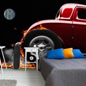 Flaming Hot Rod | Full Wall Mural