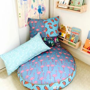 Flamingo in the Forest | Floor Cushion