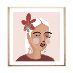 Fleur Portrait | Front View | Natural Angled Frame