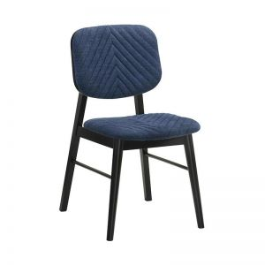 Flex Dining Chair | Black & Blue