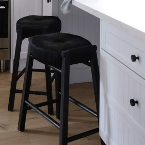 Float Hole Stool with Charcoal Legs by SATARA