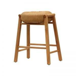 Float Stool in Natural Oak and Cord by Satara