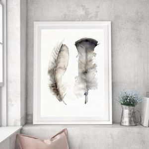 Floating Feathers | Framed Art
