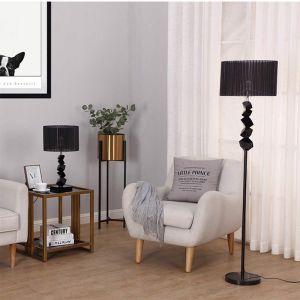 Floor Lamp Metal Base Standing Light with Dark Shade Tall Lamp
