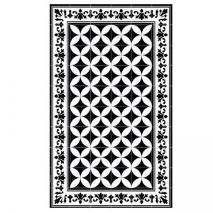Floor Mat Sofi Black and White