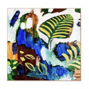 Floorbed   Framed Canvas Art
