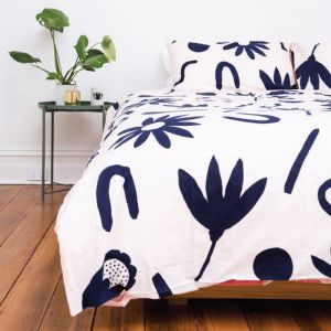 Floral Dreams Quilt Cover Set | Ink & Musk | Various Sizes
