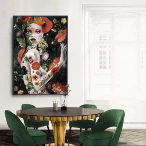 Floral Graffiti Poster  |  Signed Artist's Print or Print on Canvas