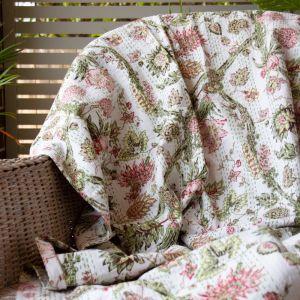 Floral Kantha Bedspread