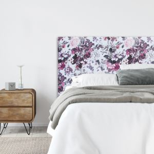 Floral Notes Velvet Upholstered Bedhead | All Sizes | Custom Made by Martini Furniture
