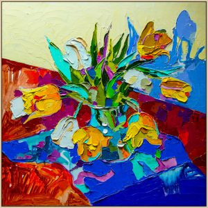 Floral Still Life | A Print on Canvas
