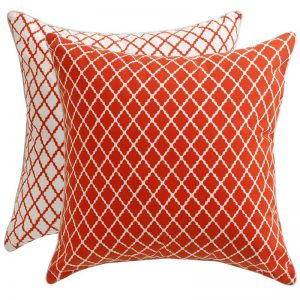 Florence Broadhurst Lattice Red Cushion Cover | Indoor/Outdoor