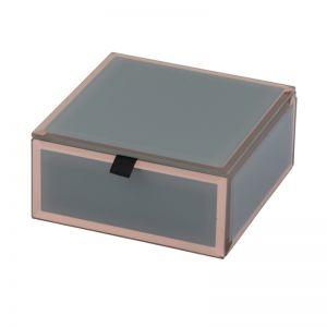 Florence Jewellery Box | Glass | Grey | Small | One Six Eight London