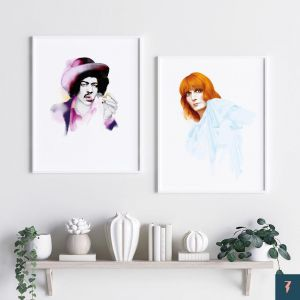 Florence & The Machine by And Lizzy | Unframed Print