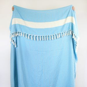 Florence Throw Blanket | Turquoise | by Collective Sol