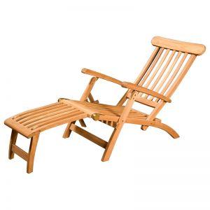 Florida Teak Deck Chair, Raw   Schots