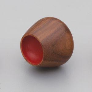 Flower Bud | Knob | Walnut with Deep Red