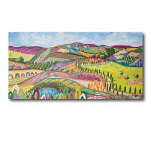 Flower Fields   Abstract Landscape I Original Artwork