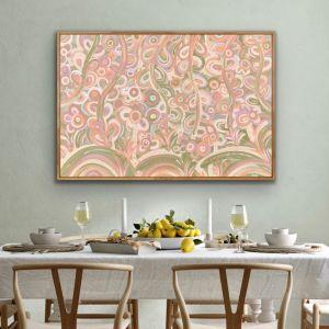 Flower Fields | Framed Canvas Print by Aurora Art