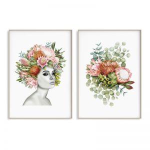 Flower Girl Duo Art Print Set | Sara Turner