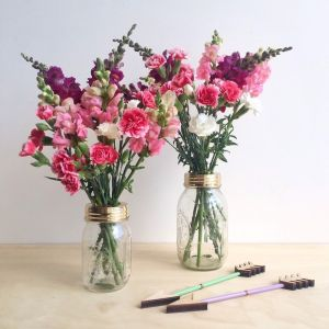 Flower Jar Set | Brass