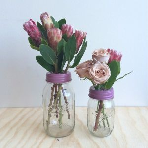 Flower Jar Set | Vintage Rose