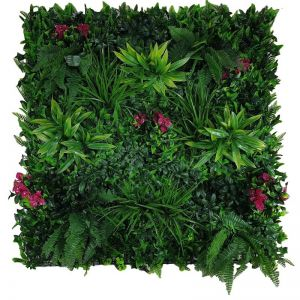 Flowering Lilac Vertical Garden | Green Wall UV Resistant | 100cm x 100cm Panel