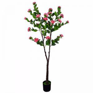 Flowering Natural Pink Artificial Camellia Tree | 180cm
