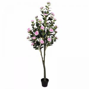 Flowering Pink Artificial Camellia Tree | 180cm