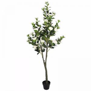 Flowering White Artificial Camellia Tree | 180cm