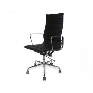 Floyd High Back Office Chair   Black Leather