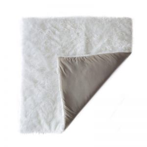 Fluffy Cotton Play Mat   Grey & White