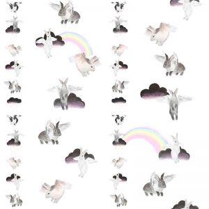 Flying Bunnies Kids Wallpaper