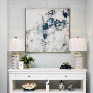 Foamy Mist | Canvas | Antique Silver Frame