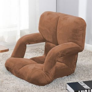 Foldable Lounge Cushion with Armrest | Coffee