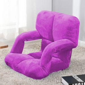Foldable Lounge Cushion with Armrest   Purple