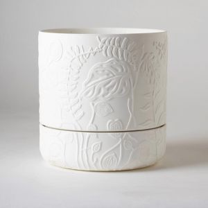 Folia Plant Pot White