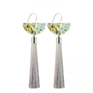 Foliage Kimmy Hogan | Moon Tassel Drop Earrings