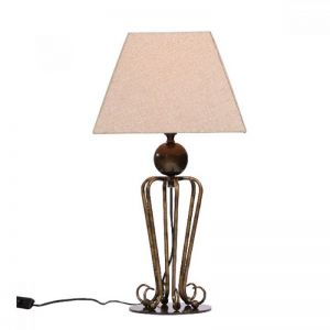 Folke Antique Brass Table Lamp