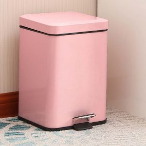 Foot Pedal Stainless Steel Rubbish Bin | 6L | Pink