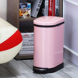 Foot Pedal Stainless Steel Rubbish Recycling Garbage Waste Trash Bin 10L U Pink