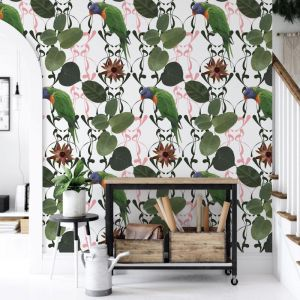 For The Love Of A Lorikeet - Flight's Of Fancy | Eco Wallpaper | Amba Florette