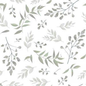 Forest Leaves Sage Wallpaper