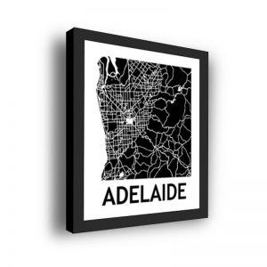 Framed 3D Street Map | Adelaide City Map Print