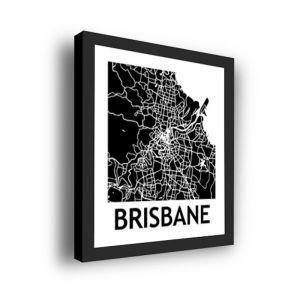 Framed 3D Street Map | Brisbane City Map Print