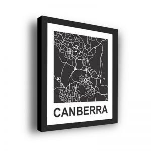 Framed 3D Street Map | Canberra City Map Print