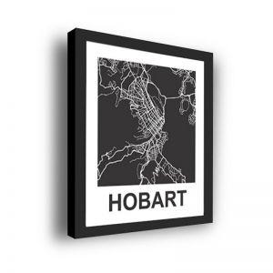 Framed 3D Street Map | Hobart City Map Print