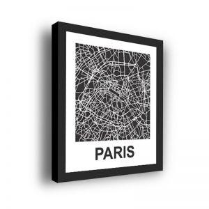 Framed 3D Street Map | Paris City Map Print