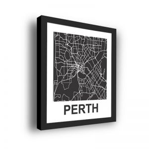 Framed 3D Street Map | Perth City Map Print